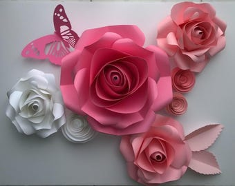 Baby Room Wall Decor - Paper Flowers - Photoshoot Backdrop - Paper flower Wall decor - Paper Flower wall - Baby Shower Decor