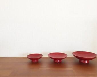 Japanese vintage 1980's sake cup sakazuki set of 3