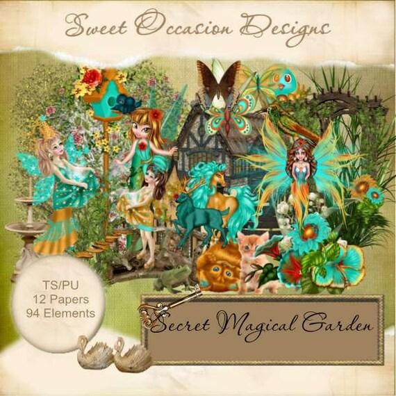 Secret Garden: Secret Magical Garden Scrapbook, Scrap Book, Scrapbooking