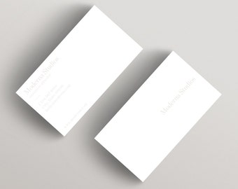 Moderna Light | Minimalist Business Card Template | Business Card Template