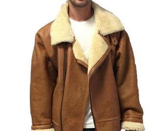 Vintage Aviator Shearling Jacket Size XXL