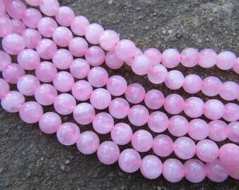 8MM Rose Quartz Gemstone Beads / 15.5'' strands natural rose quartz round beads
