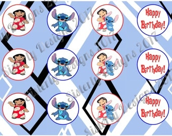 Instant download | Lilo & Stitch | Cup Cake Toppers| You Print | Lilo and Stitch | Lilo and Stitch Birthday | Lilo and Stitch Party |
