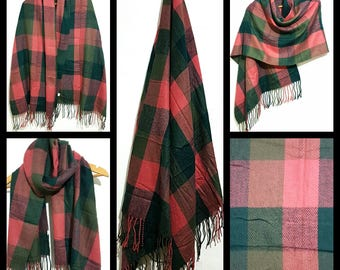 Multicolour Tartan check Scarf Shawl  High quality soft luxurious  acrylic cashmere feel ,unisex winter and summer all season scarf