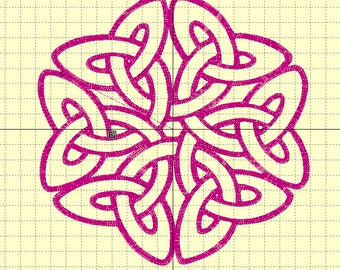 "Embroidery file ""Celtic great knot"" 6/7 inch"