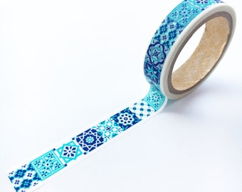 Morocco Blue Tile Washi Tape