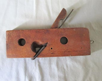 Primitive Hand Made Antique Wood Plane Tool. Woodworking Hand Tool