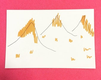 The Mountains - hand drawn illustration