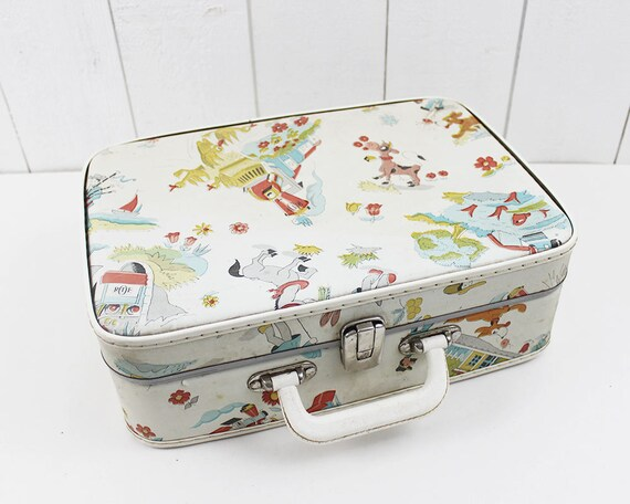 Vintage Suitcase Old Suitcase Decor ORTF Kids Suitcase Toy
