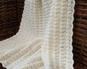 Baby blanket , crochet blanket, knitting baby blanket, merino wool.