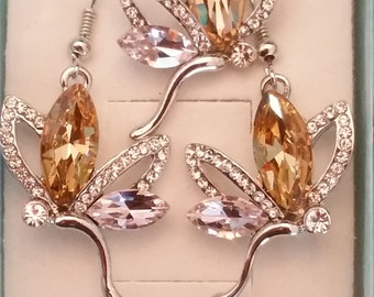 Fairy necklace and earrings set