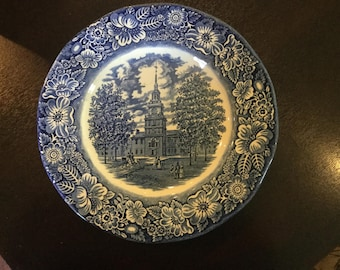 Liberty Blue Stratfordshire plate spring sale up to 40% off