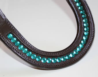 Western one ear, one ear, Earloop, dark brown turquoise