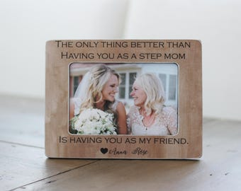 Gift for Step Mom, Step Mom Mother Gift, Personalized Picture Frame for Step Mom for Mothers Day