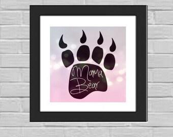 Mama Bear Paw framed print