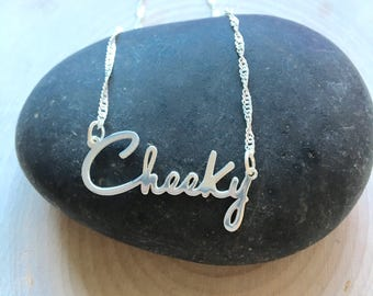 Cheeky necklace - fresh water pearls and stearling silver plated