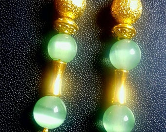 Plate gold and jade green