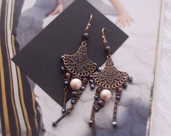 Bridesmaid earrings, bohemain bridal earrings, dangle earrings, bride earrings, wedding earrings, boho bridal earrings, bridesmaid jewelry