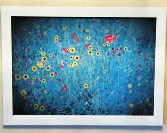 Blue Meadow 10 x 8 print in frame
