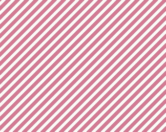 Pink Stripe Fabric/ On Trend/ Riley Blake Fabric/ Fabric by the Yard/ Pink and White/ Striped Fabric/ Cotton Fabric