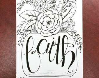 Faith and Flowers Print