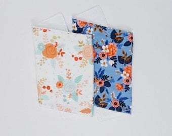 Bold Floral Burp Cloth Gift Set