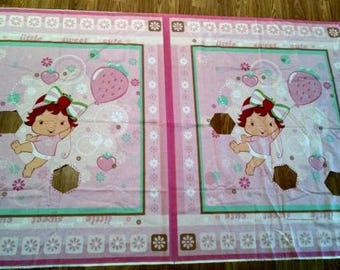 Strawberry Shortcake fabric panels 2008