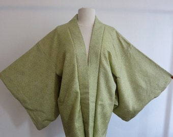 Haori kimono silk silk shibori from Japan stitched vintage kimono