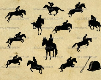 Digital SVG PNG JPG Equestrianism, jumping horse, riding, horse, hat, crop, vector, clipart, silhouette, instant download