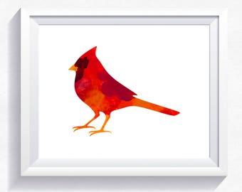 70%OFF Bird print little bird printable watercolor print, watercolor bird, red bird, bird wall art, bird painting, woodland printable