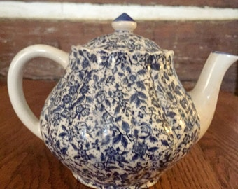 Chintz Tea Pot Blue and White