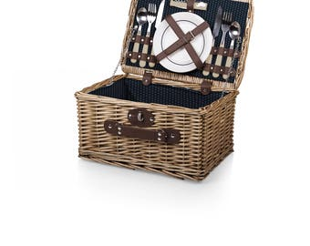 Picnic Basket for Two | Wedding Gift, Anniversary Gift, Personalized picnic basket