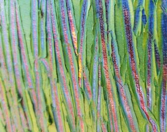 "Impasto painting ""Greener Grass"""