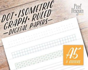 Printable Bullet Journal Insert, Dot Grid A5 Planner Insert, Bujo Template, A5 Lined Insert, Filofax Dot Grid Journal, Kikki K Large Insert