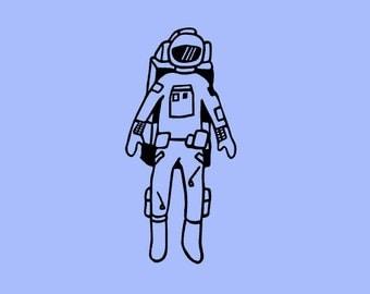 Astronaut vinyl sticker