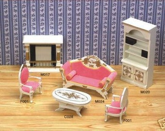 1:12 Scale dolls house miniature living room set 6pcs