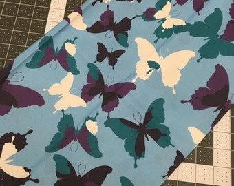 1/2 yard Fabric, Scraps, Butterfly Fabric, Specialty Fabric, Quilting Cotton, Craft Supplies & Tools, Sewing Supplies.