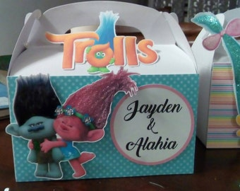 TROLLS candy boxes