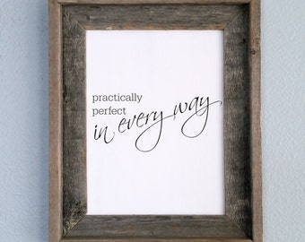 Practically Perfect in Every Way, Mary Poppins, Printable, Nursery, Home decor, Wall art