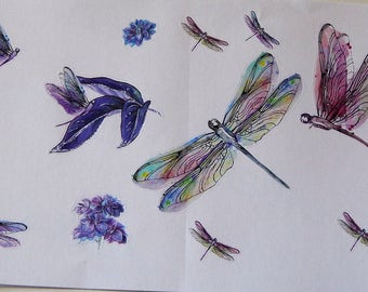 Dragonfly Deco Sheet