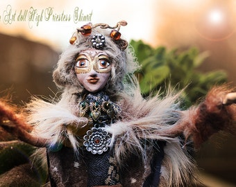Wiccan art doll  High priestess whimsical Shimrit