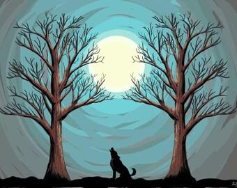 ORIGINAL DESIGN Wolf's Night Print