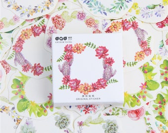 floral wreath washi stickers, bullet journal accessories, washi tape, kawaii, scrapbook, patterned stickers, decorative stickers