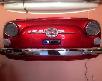 fiat 500 interior design with radio/ SPEAKERS / LED lights