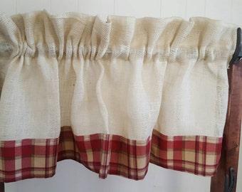 Curtains Ideas cream burlap curtains : Burlap Curtains by SammysCountryCurtain on Etsy