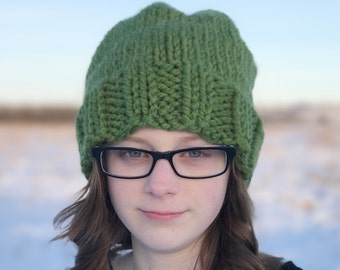 Slouchy Chunky Knit Hat, Women's Winter Hat, Chunky Knit Hat