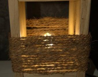 Handmade wood lamp
