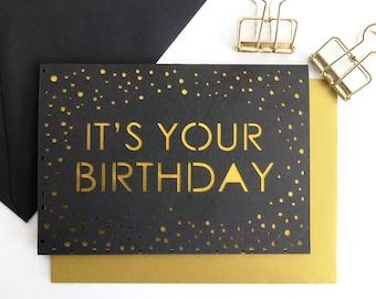 Birthday card for men, Minimal birthday card, Boyfriend birthday card, Husband birthday card, Card for boyfriend, Male birthday card