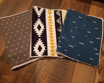 Set of 3 18in x 12 in Burp Cloth Set