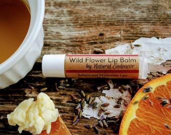 Wild Flower Lip Balm * Organic Lip Balm * Natural Lip Balm * Organic Skin Care * Natural Skin Care * Lip Butter * Favors * Easter basket